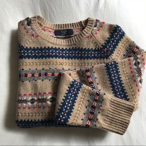 J. Crew festive lambswool sweater